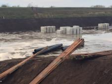 Aanleg bassin leidingwerk