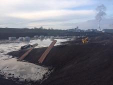 bassin proceswater leidingwerk aanleg